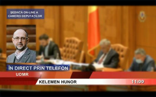 Discursul președintelui UDMR, Kelemen Hunor, susținut astăzi în cadrul dezbaterii privind proiectul de lege pentru declararea zilei de 4 iunie Ziua Tratatului de la Trianon